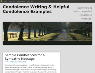 condolences.blog.com screenshot
