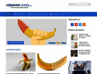 condom-sizes.org screenshot