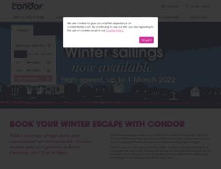 condorferries.com screenshot