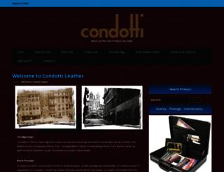 condottileather.com screenshot