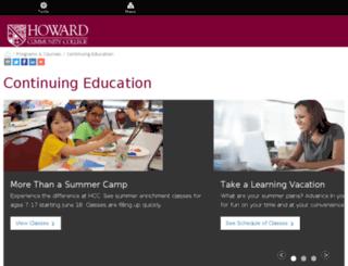 coned.howardcc.edu screenshot
