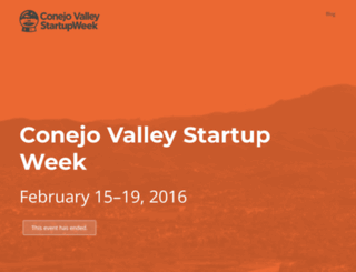 conejovalley.startupweek.co screenshot