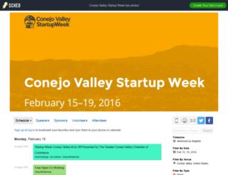 conejovalleystartupweek2016.sched.org screenshot