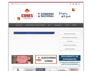 cones.gov.py screenshot