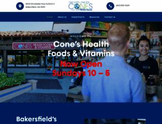 coneshealthfoods.com screenshot