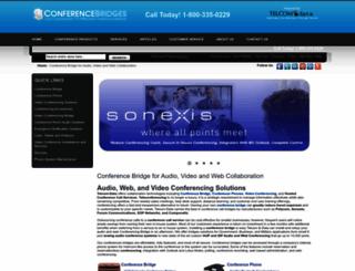 conference-bridge.net screenshot