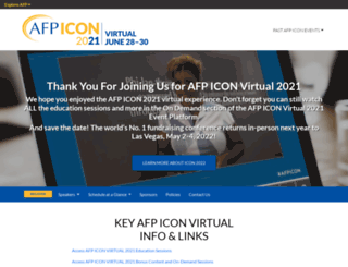 conference.afpnet.org screenshot