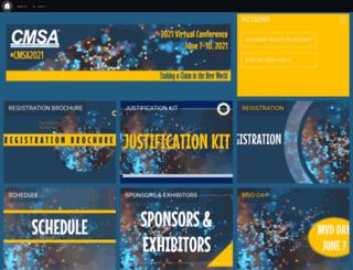 conference.cmsa.org screenshot