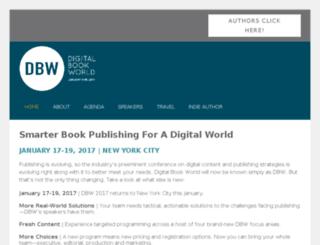 conference.digitalbookworld.com screenshot