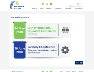 conference.insuranceeurope.eu screenshot
