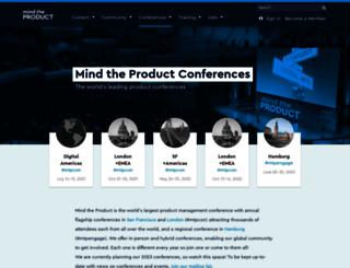 conference.mindtheproduct.com screenshot