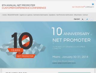 conference.netpromoter.com screenshot