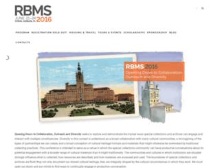 conference16.rbms.info screenshot