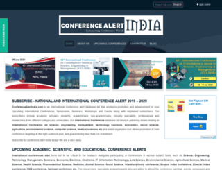 conferencealertindia.com screenshot