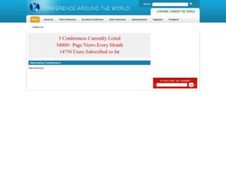 conferencearoundtheworld.com screenshot