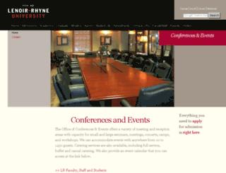 conferences-events.lr.edu screenshot