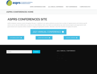 conferences.asprs.org screenshot