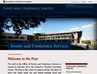 conferences.cua.edu screenshot