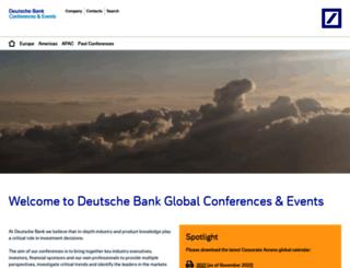 conferences.db.com screenshot