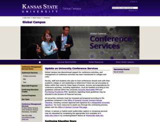 conferences.k-state.edu screenshot