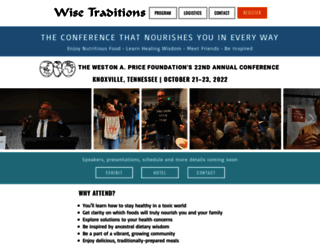 conferences.westonaprice.org screenshot