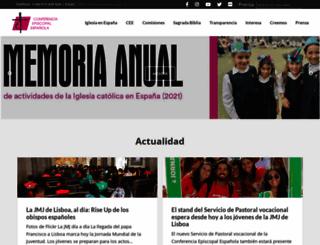 conferenciaepiscopal.es screenshot