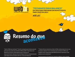 conferenciaweb.w3c.br screenshot