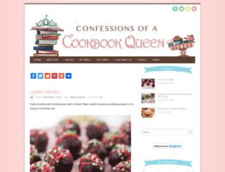 confessionsofacookbookqueen.com screenshot