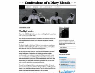 confessionsofadizzyblonde.wordpress.com screenshot
