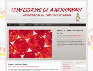 confessionsofaworrywart.com screenshot