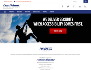 confidenttech.com screenshot