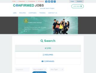 confirmedjobs.com screenshot