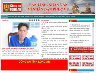 conganlongan.gov.vn screenshot