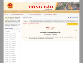 congbao.daklak.gov.vn screenshot