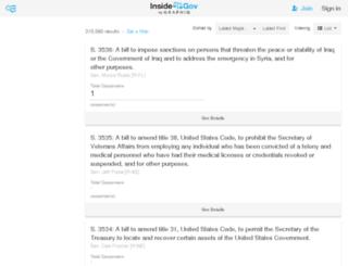 congress-bills.findthedata.org screenshot
