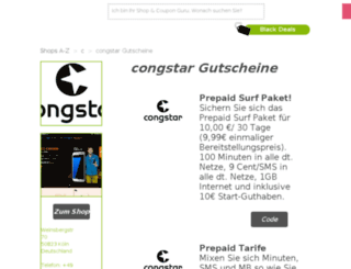 congstar.gutscheincodes.de screenshot