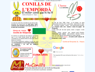conillsdelemporda.com screenshot