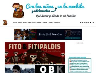 conlosninosenlamochila.com screenshot