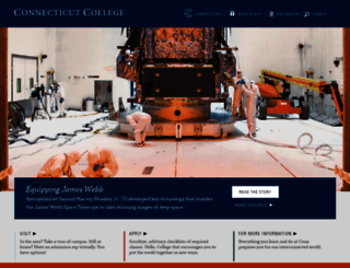 conncoll.edu screenshot