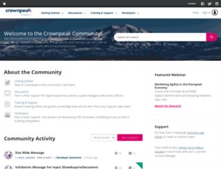 connect.crownpeak.com screenshot