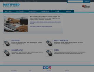 connect.dartford.gov.uk screenshot