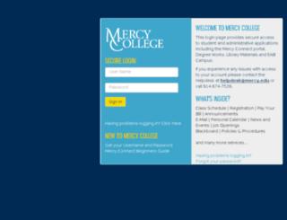 connect.mercy.edu screenshot