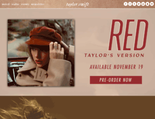 connect.taylorswift.com screenshot
