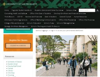 connect.usfca.edu screenshot