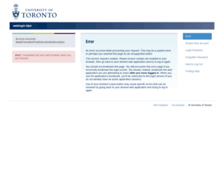 connect.utoronto.ca screenshot