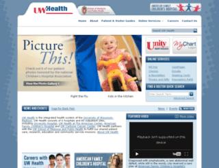 connect.uwhealth.org screenshot