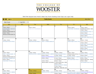 connectdaily.wooster.edu screenshot