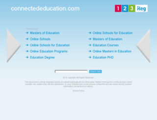 connectededucation.com screenshot