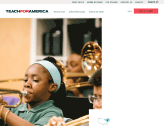 connecticut.teachforamerica.org screenshot