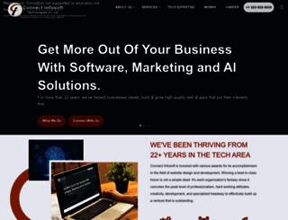 connectinfosoft.com screenshot